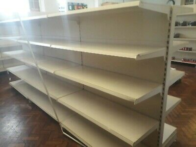 Joblot of 10 Gondola and 10 Wall Used retail shop shelving