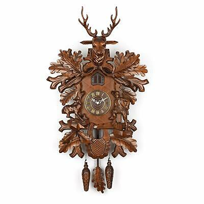 Polaris Clocks Cuckoo Clock in Black Forest Style with Night Mode Option and ...