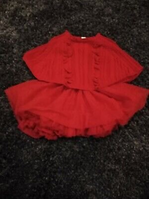 Next Red Poncho And Tutu Age 1 1/2-2
