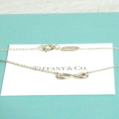 """Auth Tiffany & Co. Mini Infinity Necklace Sterling Silver 925 44cm/17.3"""" Good in"""