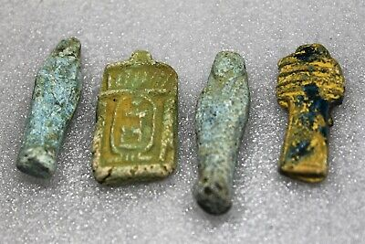 Antique Egyptian Faience Stone Terracotta Amulets collection Ushabti