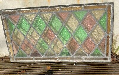 1 Reclaimed Vintage Stained Glass Window Panel - excellent condition