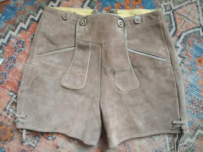 KARL KLUBER suede Lederhosen Small c 74cm waist  9cm inside leg Made in Germany