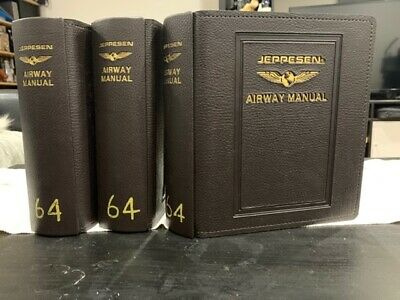 Jeppesen- faux leather x 3 binders