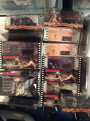 BNIB Star Wars Limited Edition and collector sets film cells Rare
