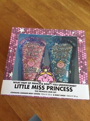 Mr Men Little Miss Princess Duo Set Shimmer Lotion Body Wash Gift Ladies Xmas