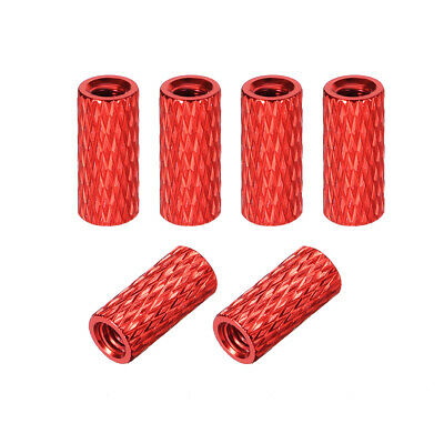 M3x35mm Aluminum Standoff with Mesh Texture Column Spacer for CNC Red 10pcs