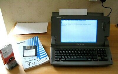 Sharp Font Writer FW-710 Word Processor + Manual, Disks & 2 x Ribbons (Tested)