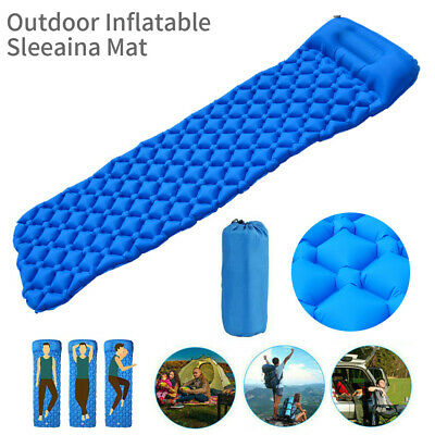New Ultralight Inflatable Sleeping Mat Camping Hiking Travling Outdoor AU SHIP
