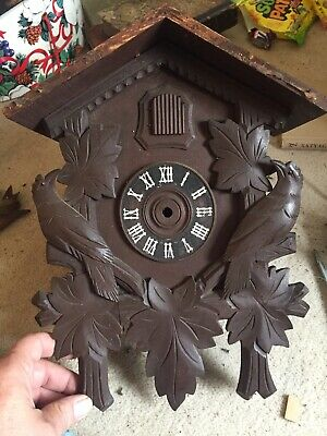 "Black Forest Cuckoo Clock Case  13"" By 10"" Hand Carved"