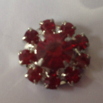 B.n.i.p  Diamante Ruby Rhinestone Embellishment - 14Mm