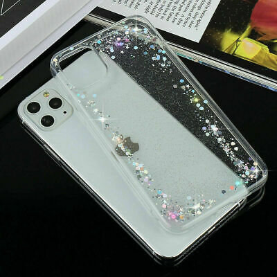 Case For iPhone 11 7 8 plus Xr Bling Sparkle Clear Soft TPU Silicone Back Cover