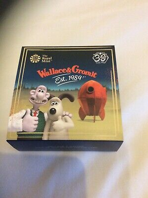 NEW 2019 WALLACE & GROMIT UK 50p SILVER PROOF COLOUR COIN - (LOW COA 1152)
