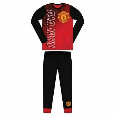 Boys Man Utd Official Manchester United FC Pyjamas Size Age 4-12 Years