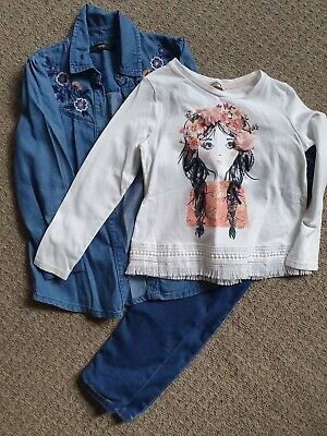 Girls outfit george Tshirts and jeans 4-5 years