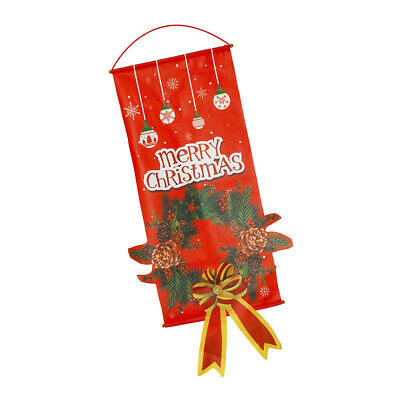 Merry Christmas Flag Holiday Decoration Banner Party Pennant Hanging Flag-06