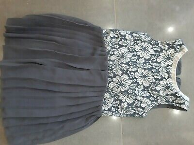Girls Grey And Silver Very Pretty Party Dress From Next