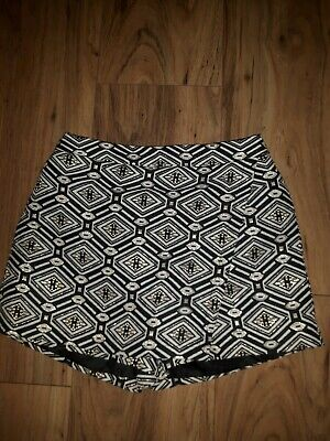 Girls Black Gold & White Party Skort Aged 10 - 11 Years