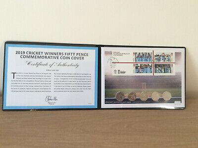 ICC Cricket World Cup Winners 2019 Ultimate 50p Stamp and Coin Cover BUNC FDC