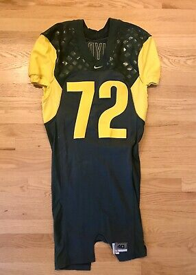 Oregon Ducks Football Team Issued Home Game Jersey #77 Adam Snyder No Reserve