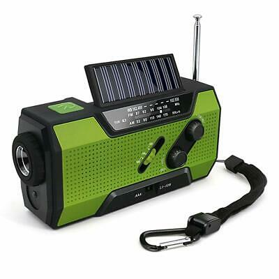 Wind Up Solar Radio,Dynamo Radio Emergency Hand Crank Radio with Reading Lamp,LE