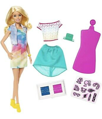 Barbie Crayola Colour Stamp Diy Fashion Doll Playset Girls Creative Play Toy