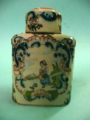 Late 18th early 19th century French Faience Tea Cannister Caddy.........ref.1988