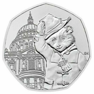 2019 50p PADDINGTON BEAR AT ST PAUL'S CATHEDRAL - Uncirculated from a sealed bag