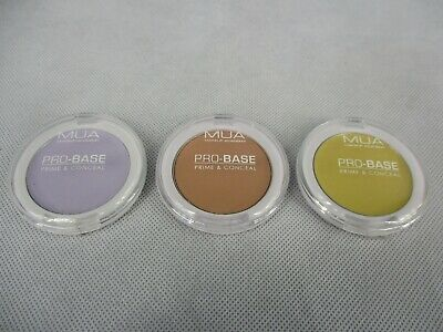 MUA Make Up Academy Pro Base Prime and Conceal 3 pieces 3 Colours 3.4g Sealed