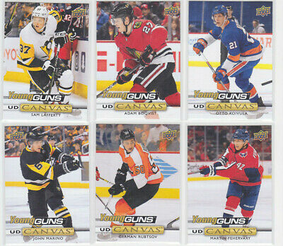 2019-20 Upper Deck CANVAS Series 1 & 2 U Pick Base POE + Young Guns UD 2019/20