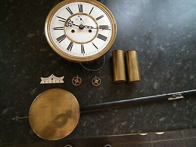 Antique Twin Weight Vienna Wall Clock Movement, By Schutz Marke