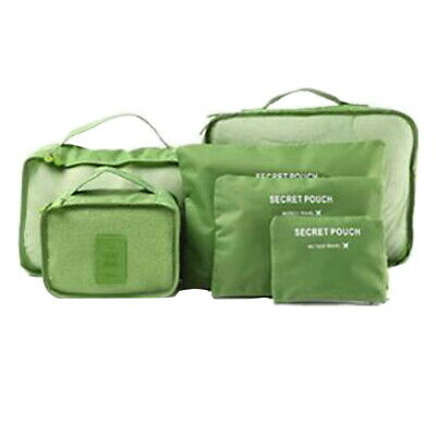 Travel 6 Set Packing Cubes with Shoe Bag - Compression Travel Luggage  Fashion