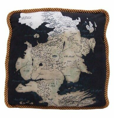 Game of Thrones Westeros Map Throw Pillow North