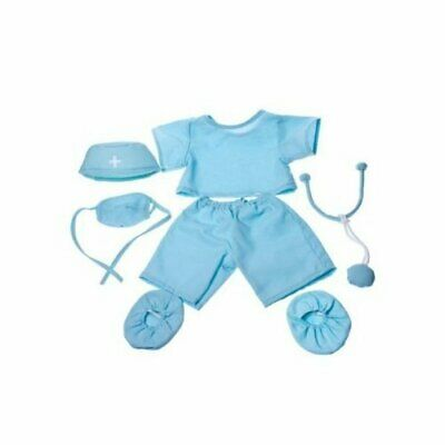 Doctor Scrubs Outfit Teddy Bear Clothes Fit 14 - 18 Build-A-Bear, Vermont Te