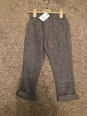 BNWT Boys Next Grey Chino Trousers Soft Age 4 Years