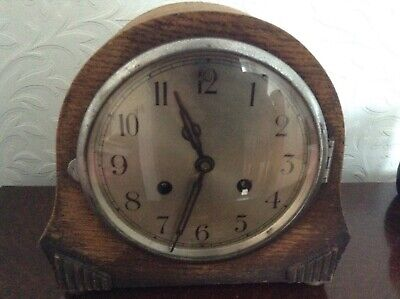 Vintage Art Deco Mantel Clock Case for spares/repairs/parts