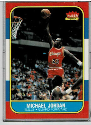1986-1987 Fleer Michael Jordan Chicago Bulls #57 Basketball Card-