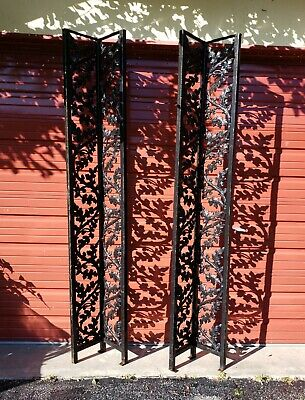 Solid Cast Iron Porch Columns Posts Pair Of 2! Vintage Mid Century Architectural