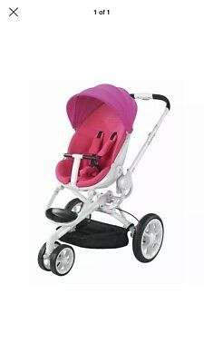 Quinny Moodd Pink With White Frame Stroller Travel System Pushchair
