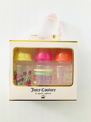 Juicy Couture 3-Pack Wide Neck Bottle Set (11 Oz.)- New, BPA Free, Leak Proof