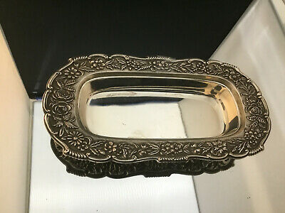 Kirk Repousse  Sterling Butter Dish ~ 6 3/8""