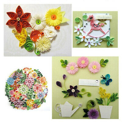Collection Handcraft Wall 600 Strips DIY Design Quilling Paper Kit 5mm Colorful