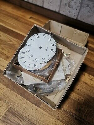 Vintage Watchmakers Clock Face And Hands Joblot