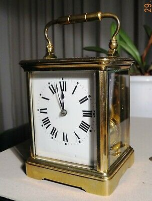 French Carriage Clock, Half Hour Striking, perfect original condition, working