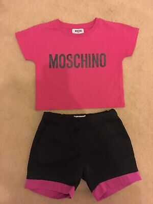 Girls Moschino Top And Shorts