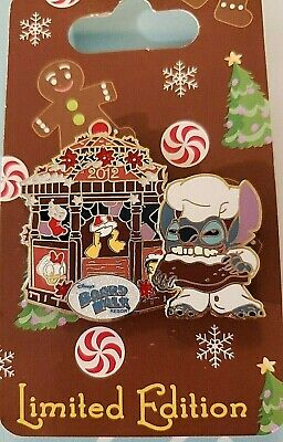 Pin 93437 WDW - Gingerbread House 2012 - BoardWalk Resort - Stitch LE 750 NOC