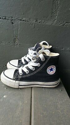 Converse All Star Kids Shoes black hi-tops (Toddler US 6) 13cm GREAT CONDITION