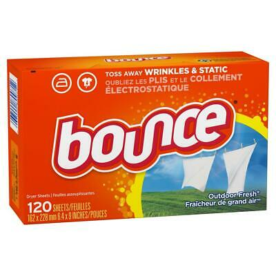 Bounce Fabric Softener Dryer Sheets, Fresh Linen, 120 Count