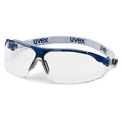 UVEX I-VO 9160-120 Safety Glasses / Spectacles - Clear Lens + Head Tape