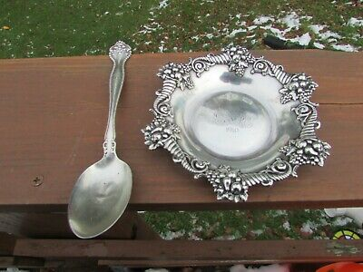 Vintage Tiffany & Co. 1891 C Makers 2612 Sterling Silver 925-1000 bowl / Spoon